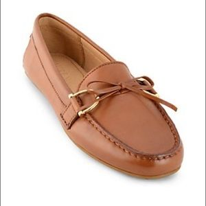 Ralph Lauren Brown Leather Briley Loafers